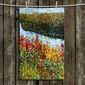 Unique Hanging Tea Towels | Mandy Budan - The River | Nature Abstract