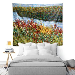 Artistic Wall Tapestry   Mandy Budan The River