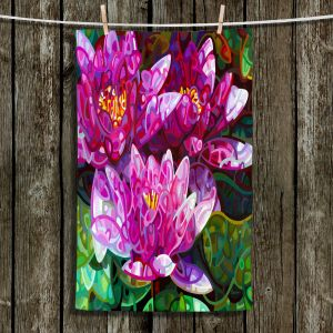 Unique Hanging Tea Towels | Mandy Budan - Triumvirate | flower surreal shapes abstract