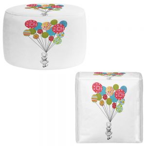 Round and Square Ottoman Foot Stools | Marci Cheary - Balloons