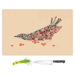 Artistic Kitchen Bar Cutting Boards | Marci Cheary - Bird on a Wire | geometric surreal nature
