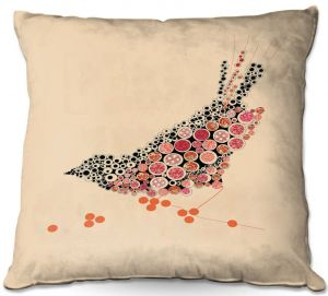 Throw Pillows Decorative Artistic | Marci Cheary - Bird on a Wire | geometric surreal nature