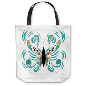Unique Shoulder Bag Tote Bags   Marci Cheary - Butterfly White   Insect Nature Brush Strokes