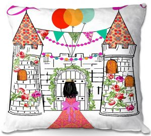 Throw Pillows Decorative Artistic | Marci Cheary - Castle | Princess Prince Party