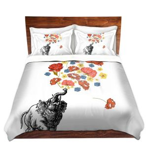 Artistic Duvet Covers and Shams Bedding | Marci Cheary - Elephant