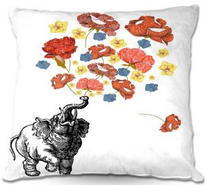 Throw Pillows Decorative Artistic   Marci Cheary Elephant
