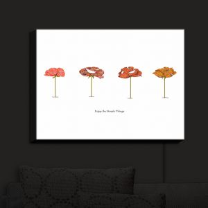 Nightlight Sconce Canvas Light | Marci Cheary - Enjoy the Simple Things | Flowers Inspiring