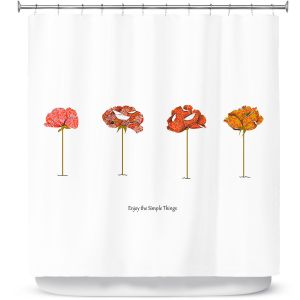 Premium Shower Curtains | Marci Cheary Enjoy the Simple Things