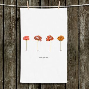 Unique Hanging Tea Towels | Marci Cheary - Enjoy the Simple Things | Flowers Inspiring