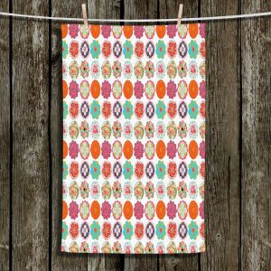 Unique Bathroom Towels   Marci Cheary - Flower Circles Pattern   Floral Pattern