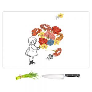 Artistic Kitchen Bar Cutting Boards | Marci Cheary - Flower Picking