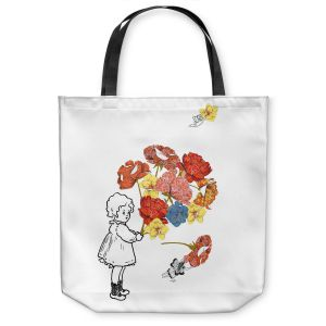 Unique Shoulder Bag Tote Bags | Marci Cheary Flower Picking