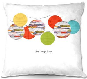 Decorative Outdoor Patio Pillow Cushion | Marci Cheary - Lanterns