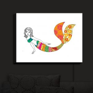 Nightlight Sconce Canvas Light | Marci Cheary - Long Mermaid