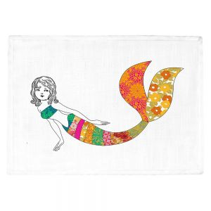 Countertop Place Mats | Marci Cheary - Long Mermaid | illustration pattern portrait