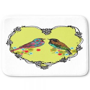 Decorative Bathroom Mats | Marci Cheary - Love Birds | nature portrait simple illustration