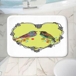 Decorative Bathroom Mats | Marci Cheary - Love Birds | nature portrait simple illustration