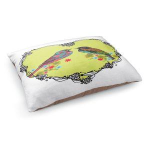 Decorative Dog Pet Beds | Marci Cheary - Love Birds | nature portrait simple illustration