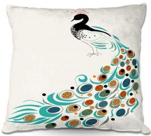 Throw Pillows Decorative Artistic | Marci Cheary Peacock II