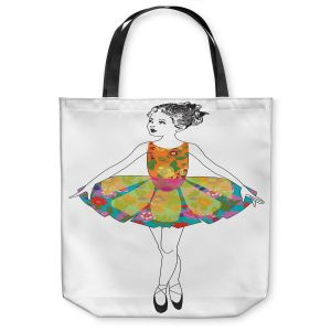 Unique Shoulder Bag Tote Bags   Marci Cheary - Ballerina 3   illustration pattern portrait children
