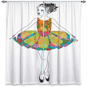 Decorative Window Treatments | Marci Cheary - Ballerina 3 | illustration pattern portrait children
