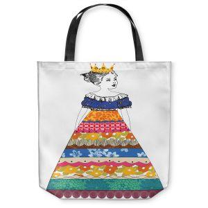 Unique Shoulder Bag Tote Bags   Marci Cheary - Princess 3   illustration pattern portrait children