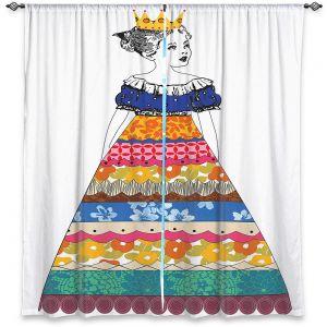 Decorative Window Treatments | Marci Cheary - Princess 3 | illustration pattern portrait children