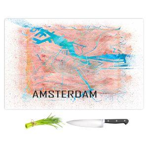 Artistic Kitchen Bar Cutting Boards | Markus Bleichner - Amsterdam Netherlands Map | Maps Cities Travel