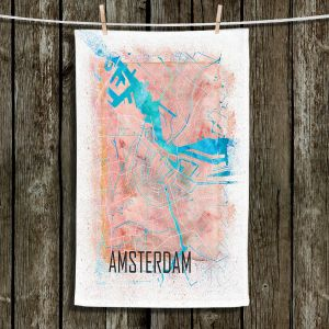 Unique Hanging Tea Towels | Markus Bleichner - Amsterdam Netherlands Map | Maps Cities Travel