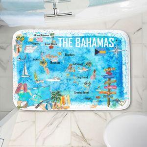 Decorative Bathroom Mats | Markus Bleichner - Bahamas Travel Poster | Maps Ocean Cities Countries Travel