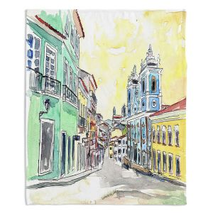 Artistic Sherpa Pile Blankets | Markus Bleichner - Bahia Brazil | Landscape city scape town street