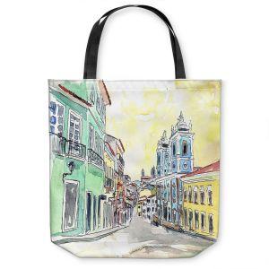 Unique Shoulder Bag Tote Bags   Markus Bleichner - Bahia Brazil   Landscape city scape town street