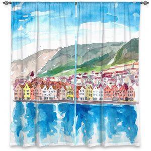 Decorative Window Treatments | Markus Bleichner - Bergen Norway | coast cityscape town water beach