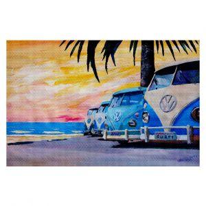 Decorative Floor Coverings | Markus Bleichner Blue VW Bus Line
