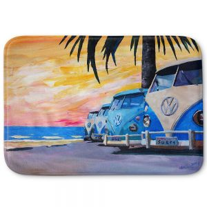 Decorative Bathroom Mats | Markus Bleichner - Blue VW Bus Line