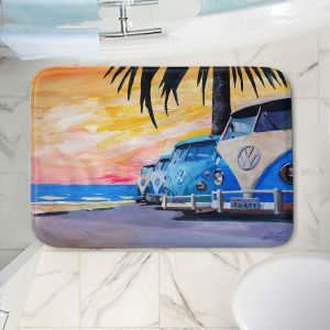 Decorative Bathroom Mats | Markus Bleichner - Blue VW Bus Line