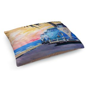 Decorative Dog Pet Beds | Markus Bleichner Blue VW Bus Line