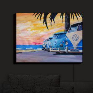 Nightlight Sconce Canvas Light | Markus Bleichner - Blue VW Bus Line