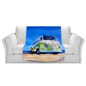 Artistic Sherpa Pile Blankets | Markus Bleichner California Dreaming VW Bus