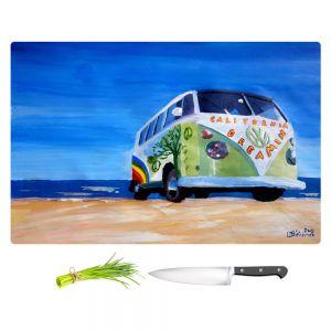 Artistic Kitchen Bar Cutting Boards   Markus Bleichner - California Dreaming VW Bus