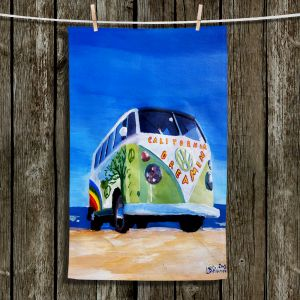 Unique Hanging Tea Towels | Markus Bleichner - California Dreaming VW Bus | Volkswagon Bus Beach