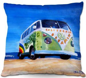 Decorative Outdoor Patio Pillow Cushion | Markus Bleichner - California Dreaming VW Bus