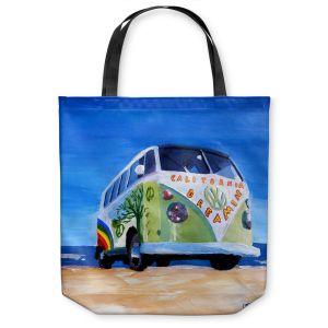 Unique Shoulder Bag Tote Bags | Markus Bleichner California Dreaming VW Bus