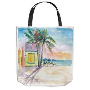 Unique Shoulder Bag Tote Bags | Markus Bleichner - Caribbean Sunset 2 | Landscape Beach Ocean Trees