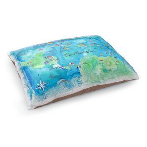 Decorative Dog Pet Beds | Markus Bleichner - Caribbean Travel Map | Caribbean Sea Mexico Florida