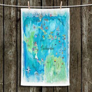 Unique Hanging Tea Towels | Markus Bleichner - Caribbean Travel Map