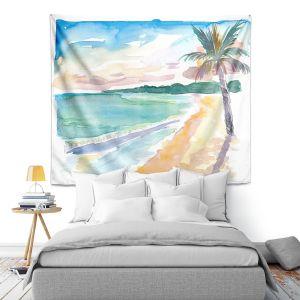 Artistic Wall Tapestry | Markus Bleichner - Caribbean View 2 | Beach Ocean Trees Nature