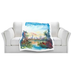 Artistic Sherpa Pile Blankets | Markus Bleichner - Central Park View 2 | Park Cities Trees