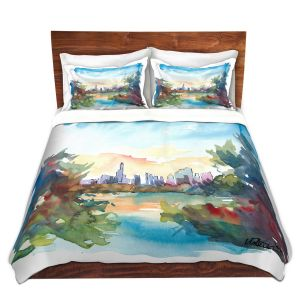 Artistic Duvet Covers and Shams Bedding   Markus Bleichner - Central Park View 2   Park Cities Trees
