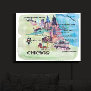 Nightlight Sconce Canvas Light | Markus Bleichner - Chicago Tourist 2 | map city simple